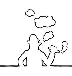 cigar smoker vector image vector image
