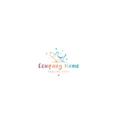 Color logo on which an abstract image vector