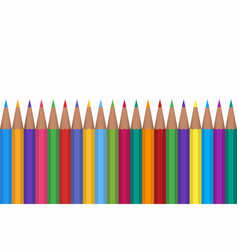 colored pencils isolated on vector image