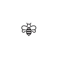 creative bee abstract logo design vector image