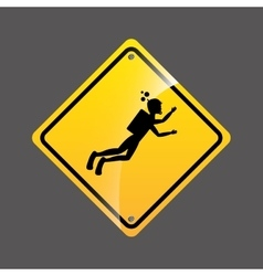 Diving person sign sport extreme design vector