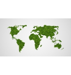 ecological concept of the green world map vector image
