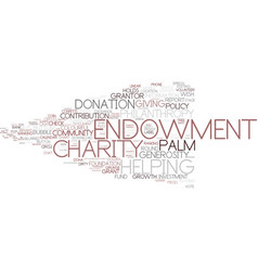 Endowment word cloud concept vector