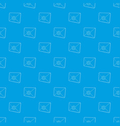 envelope with email sign pattern seamless vector image