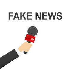 fake news flat design with vector image