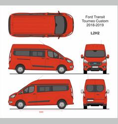 Ford transit tourneo custom van l2h2 2018-2019 vector
