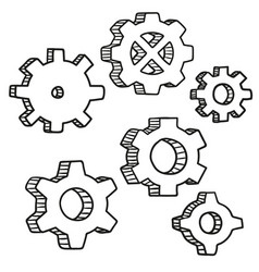 gear wheel and cog wheel icon vector image