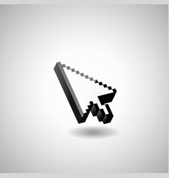 glossy mouse arrow cursor vector image