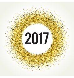 Gold sparkle template for your text vector