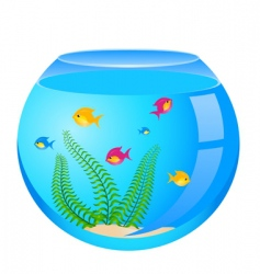 Goldfish bowl vector