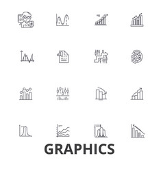 graphics graph infographic design chart vector image