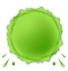 Green round slime isolated on white background vector