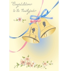 Greeting wedding card vector image