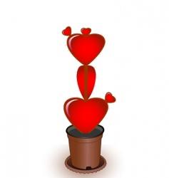 heart a cactus vector image vector image