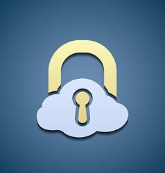 Icon cloud data storage vector
