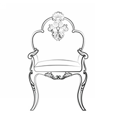 Imperial Royal chair with classic ornaments vector