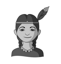 Indianhuman race single icon in monochrome style vector