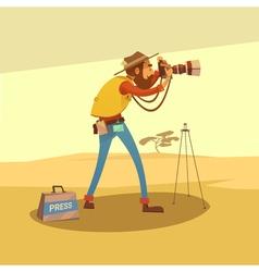 Journalist Cartoon vector image