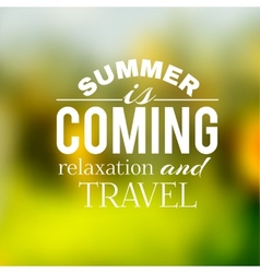 Label of the summer travel on a green background vector