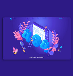 Landing page isometric concept vector