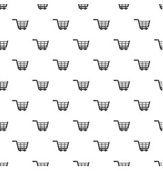 Large shopping trolley pattern vector