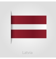 Latvian flag vector