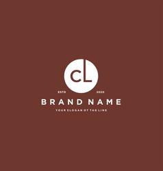 Letter cl logo design vector
