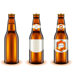 light beer bottle design 3d realistic vector image