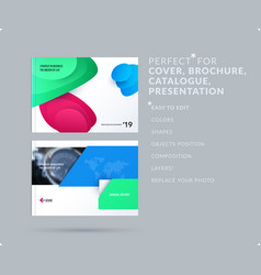 liquid design presentation template with colourful vector image