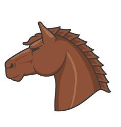 Logo horse vector image