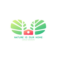 Logo tree home vector