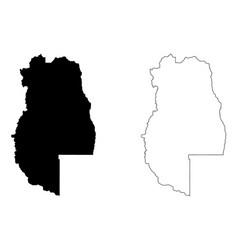 mendoza map vector image