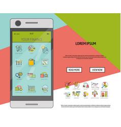 mobile financial software banner vector image