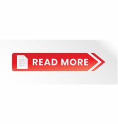 Modern read more button icon vector
