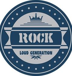 Music emblem design vector