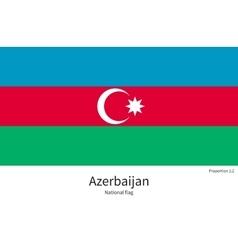 National flag of azerbaijan with correct vector