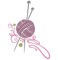 needlework knitting vector image