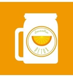 Orange Detox icon Smoothie and Juice design vector