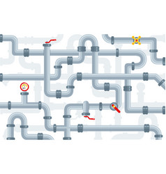 pattern details ware pipes system vector image
