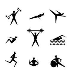 People exercising for health and fitness vector