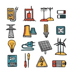 Power And Energy Icon Set vector