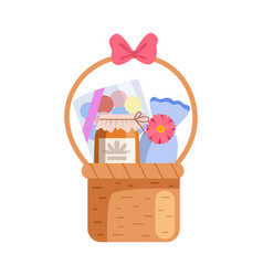 present basket full gifts birthday xmas vector image