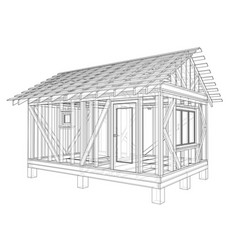 private house sketch vector image