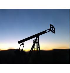 pump gasoline production vector image