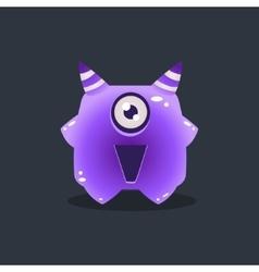 Purple Alien With Horns vector