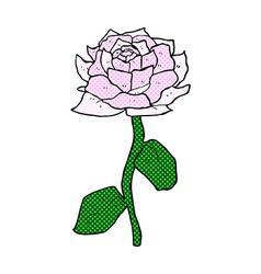 rose comic cartoon vector image