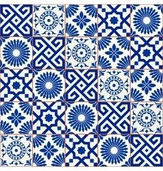 Samless pattern Moroccan Portuguese tiles vector