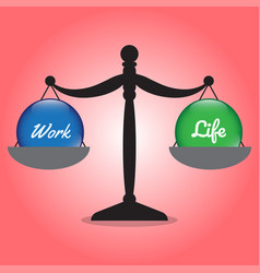 scale of work life balance work and life crystal vector image