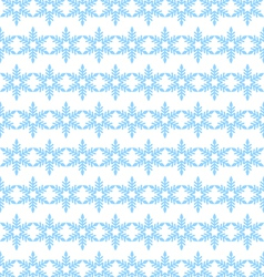 seamless background blue snowflakes vector image
