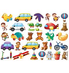 set children toys vector image